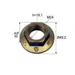 Piulita crenelata M24x1,5 universal